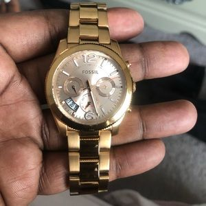 Gold dress watch with box